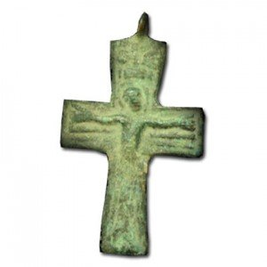 Bronze Byzantine Cross – 400 A.D Christian Antiquity Jewelry