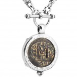 Byzantine justinian coin necklace