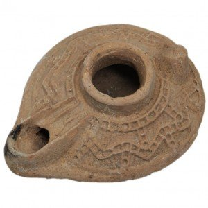 Islamic Period Decorated Clay Oil Lamp