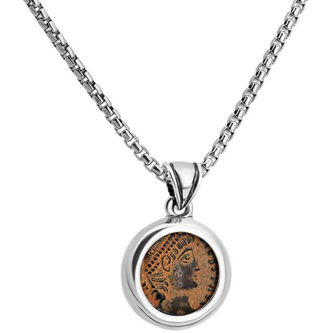 Constantine Ancient Coin in Pendant
