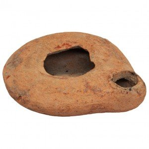 Roman Period Clay Oil Lamp – Authentic Biblical Pottery from Israel