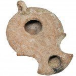 Biblical Darom Clay Oil Lamp - Southern Herodian - Discovered in Hebron