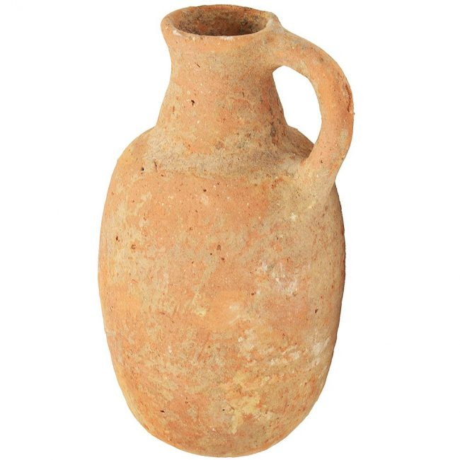 Iron Age Clay oil Jug - Ancient Pottery from Jerusalem