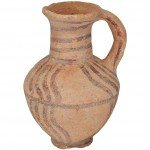 Late Bronze period clay painted water jug wheelmade pottery