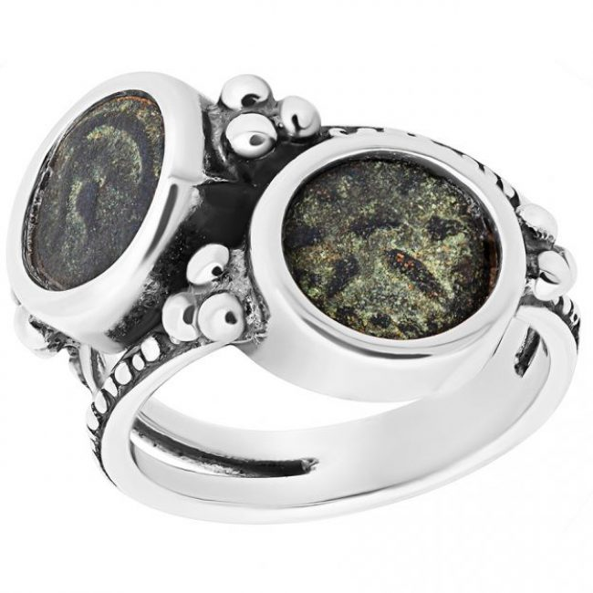Widows Mite Two Coin Ring
