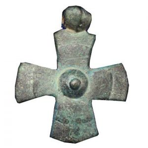 Ancient Crusader Cross – Bronze Pendant 1250 A.D