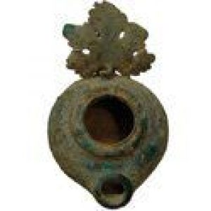 Roman Period Bronze Oil Lamp