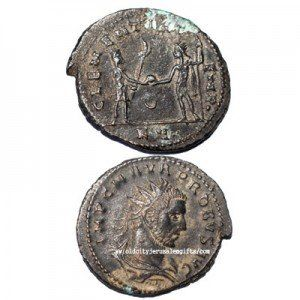 Bronze Lucius Coin (295 AD) – Roman Emperor – Discovered in Israel