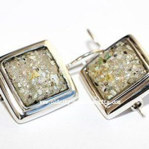 Square Roman Glass Earrings – Made in the Holy Land