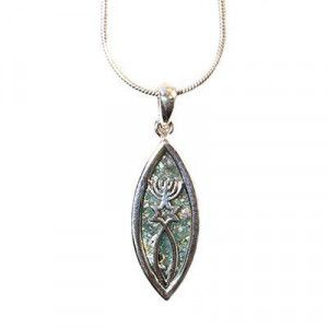 Messianic Seal Necklace – Roman Glass and Sterling Silver Pendant