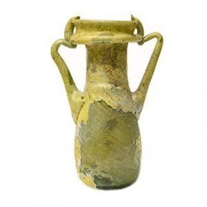 Two-Handled Roman Glass Bottle