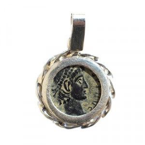 Constantine in a Silver Frame Pendant
