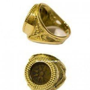 Biblical Widow's Mite set in 14k Gold Ring