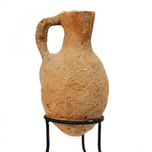 Middle Bronze Age Clay Jug (2000-1550 B.C.) Found in Jerusalem