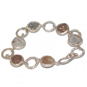 Bracelet with Ancient Widow's Mite Coins
