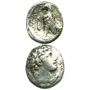 Silver Greek (Seleucid) Tetradrachma Coin of Antiochus III (175 BC)