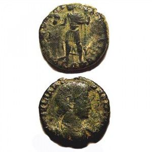 Authentic Bronze coin of Roman Emperor Constantine III (375 A.D.)
