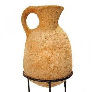 Clay Pitcher from Time of King David – Iron Age (1200-586 B.C.)