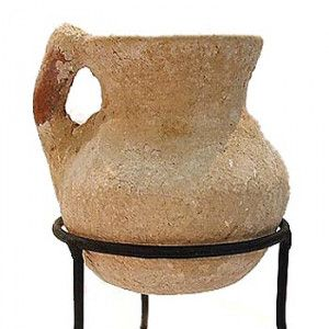 Authentic Iron Age Clay Oil Jug – Found in Northern Israel
