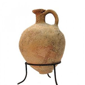 Late Bronze Age Clay Water Jug (1550-1200 B.C.) – Found in Jerusalem
