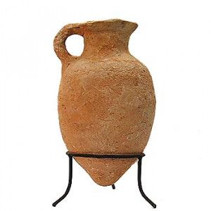 Late Bronze Age Clay Oil Jug (1550-1200 B.C.) – Found in Jerusalem