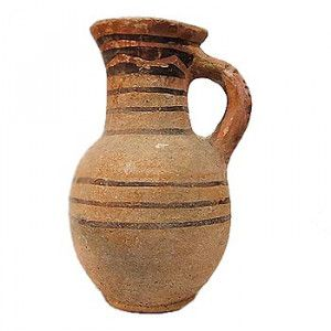 Islamic Period Clay Painted Water Jug – Discovered in Jerusalem