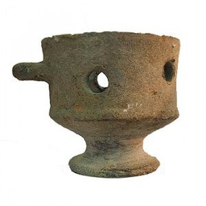 Authentic Clay Roman Incense Burner – Discovered in Shechem, Israel