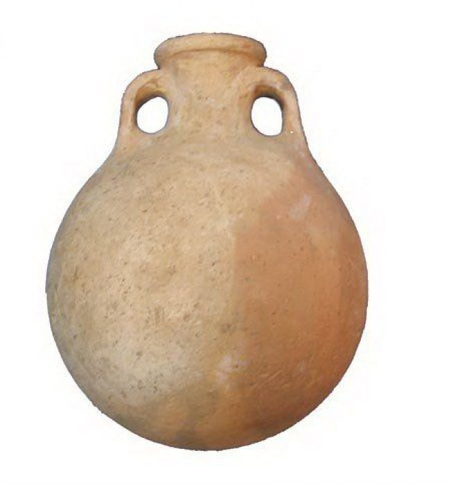 Roman Clay Water Flask - Jesus Time Pottery