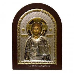 Silver Icon Pantocrator Christ – Made in the Holy Land