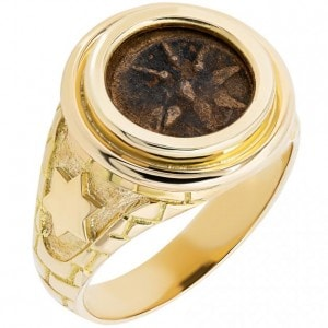Widow's Mite Coin in 14k Gold Ring