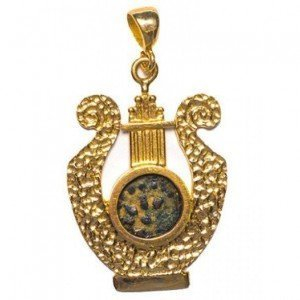 Widow's Mite Coin in 14k Gold Pendant