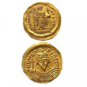 Gold Byzantine Phocas Coin – Discovered in Jerusalem