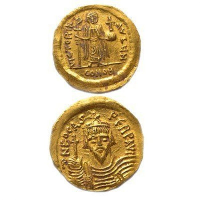 Byzantine Phocus Gold Coin Discovered in Jerusalem
