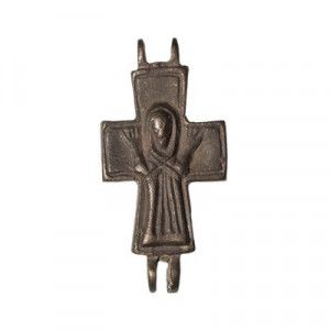 Byzantine Cross with Figure of Jesus