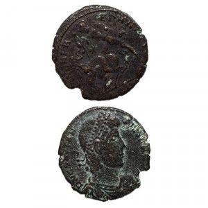 Bronze Constantine the Great Coin – 330 A.D. – Discovered in Israel