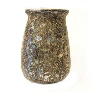 Roman Ancient Glass Inkwell Discovered in Jerusalem
