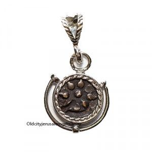 Widow's Mite Coin in Silver Frame Pendant