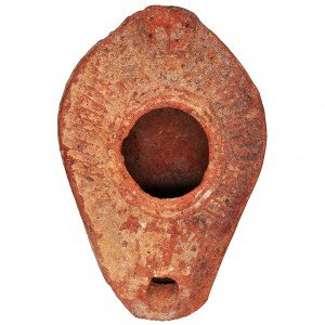 Ancient Byzantine Clay Oil Lamp – 7th Century A.D.