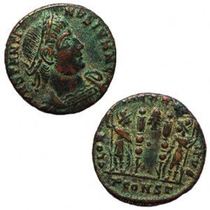 Constantine the Great Coin (330 AD) – Discovered in Israel