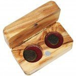 The Widow's Mite - Two Coins in an Olive Wood Box