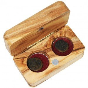 The Widow's Mite – Two Coins in an Olive Wood Box