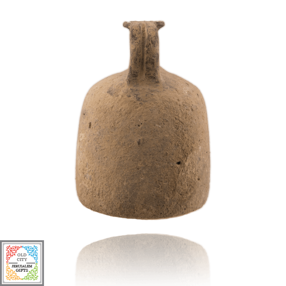 Middle Bronze Jug dark grey color the clan y of tel Yahudiyeh style