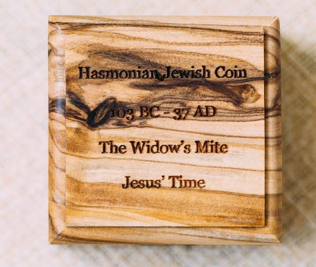 Jesus time Widow's mite coin