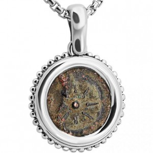 Widow's Mite Coin in Silver Necklace – Star