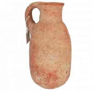 Ancient King David Pottery - Iron Age Oil Jug