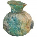 Byzantine Glass Perfume Bottle - Ancient Bulbous Body Jar