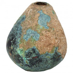 Chalcolithic Period Bronze Mace Head Weapon (upright)