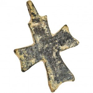 Ancient byzantine bronze cross a
