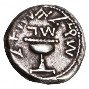 An Ancient Silver Shekel - Israel First Revolt Year 3