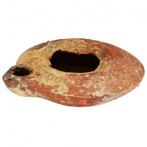 Roman Oil Lamp – Time of Jesus Clay Lamp – Discovered in Israel